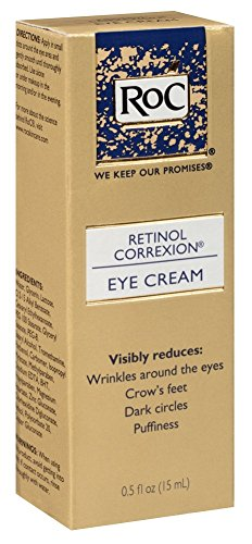 RoC Eye Cream, Retinol Correxion 0.5 oz (Pack of 3) (Best Drugstore Eye Cream For Dark Circles And Puffiness)