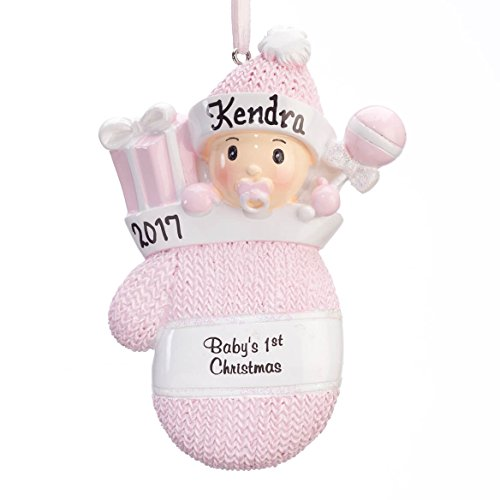 (Fox Valley Traders Personalized Baby's First Christmas Mitten Ornament,)