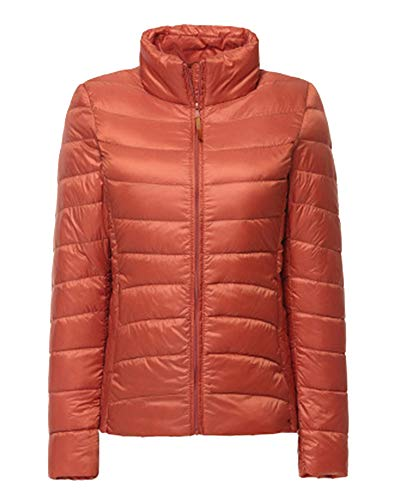 Short Weight Women's Jacket ZiXing Orange Winter Down Outdoor Coat Lightweight Light Ultra Packable YwXwdq