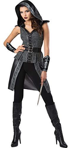InCharacter Women's Dark Woods Huntress Outfit Adult Fancy Dress Halloween Costume, L (12-14)