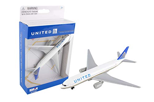 - United Airlines 777 airplane toy plane, RT6266
