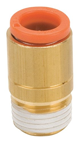 SMC KQ2S07-36AS Brass Push-to-Connect Tube Fitting with Sealant, Hex Socket Head Adapter, 1/4