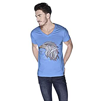 Creo Eagle Animal T-Shirt For Men - L, Blue