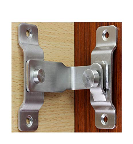 Large 90 degree right angle door latch buckle curved latch bolt bolt sliding lock bolt, screw for door and window
