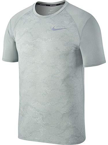 (Nike Men's Dry Miler Running Top Shortsleeve (L, Light Pumice/Heather))