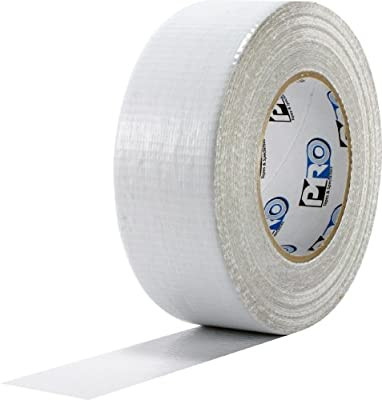 "ProTapes Pro Duct 100 PE-Coated Cloth Economy Duct Tape, 60 yds Length x 3"" Width, White (Pack of 1)"