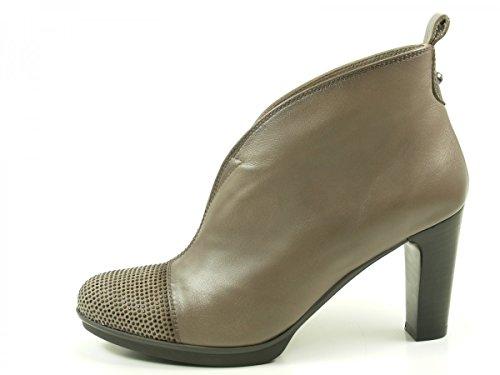 Hispanitas Amberes HI63555 Schuhe Damen Plateau Stiefeletten Ankle Boots Grau