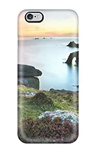 High-end Protector For Case Iphone 6 4.7inch Cover (ocean Rocks Plant Landscape Amp Digital)