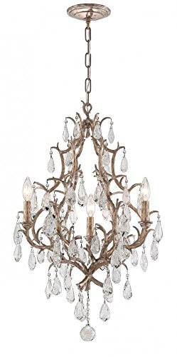- Corbett 28573817 Corbett Three Light Vienna Bronze Up Chandelier - 782042796539