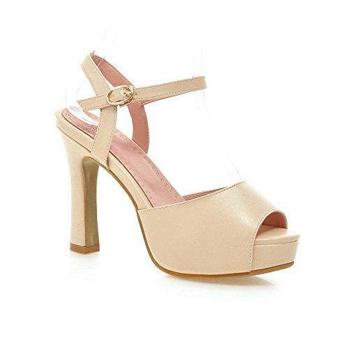 Adee Mujer Hebilla high-heels Poliuretano Sandalias albaricoque