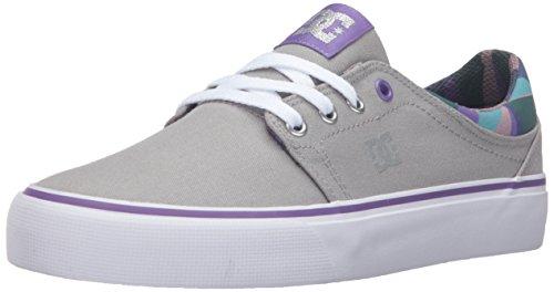 DC Trase SP Skate Shoe, Armor/Purple, 8 M US
