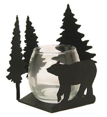 Bear Candlewrap Tea Light Votive Candle Holder -