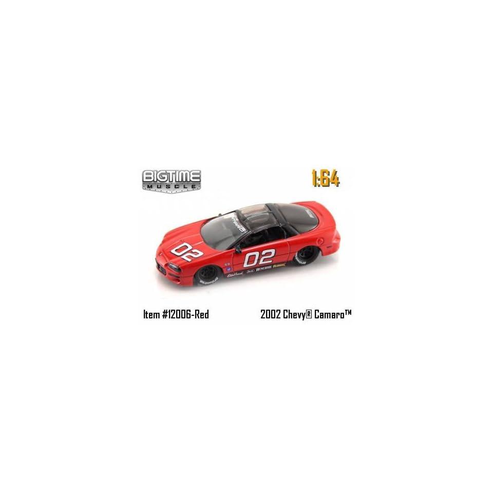 Jada Dub City Big Time Muslce Red Racing 2002 Chevy Camaro 164 Scale Die Cast Car