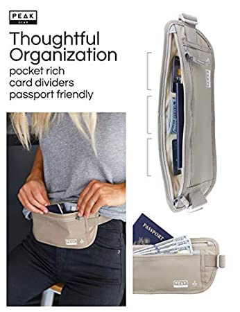 8742cfe09e319 Thin Profile Money Belt w  Theft Insurance and Lost   Found Service - RFID  Block Liner Built-in - Rated for security