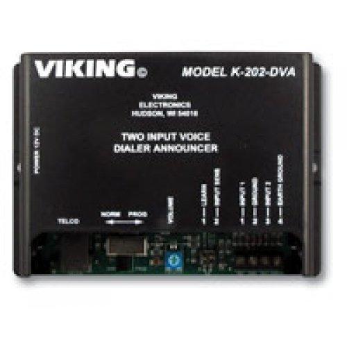 VIKING ELECTRONICS K202DVA 2 INPUT ALARM DIALER WITH DIGITAL ANNOUN
