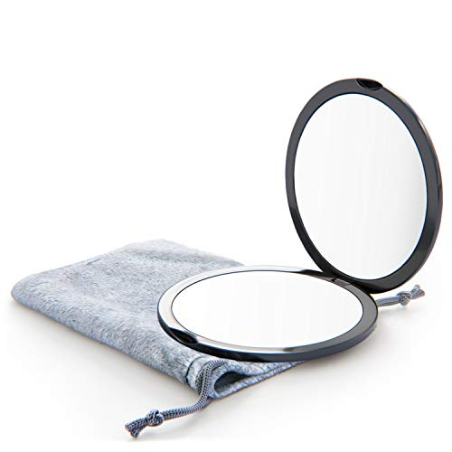 Magnifying Compact Mirror for Purses, 1x/10x Magnification – Double Sided Travel Makeup Mirror, 4 Inch Small Pocket or…