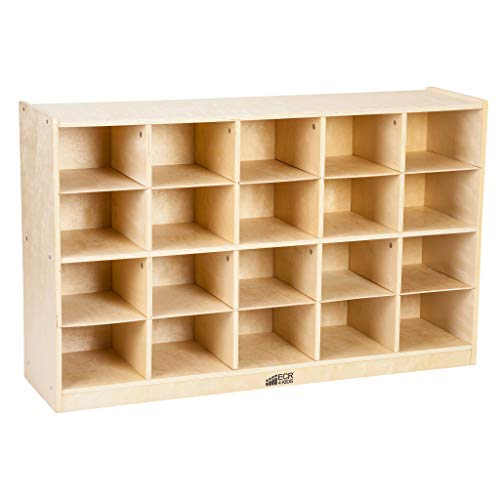 ECR4Kids Birch 20 Cubbie Tray Cabinet