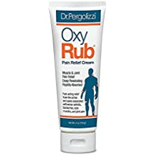 Dr. Pergolizzi's OxyRub Pain Relief Cream for Fast-Acting Relief From the Aches and Pains Associated with Minor Arthritis, Backaches, Sore Muscles, and Joint Pain, 1 Tube (4 oz.)