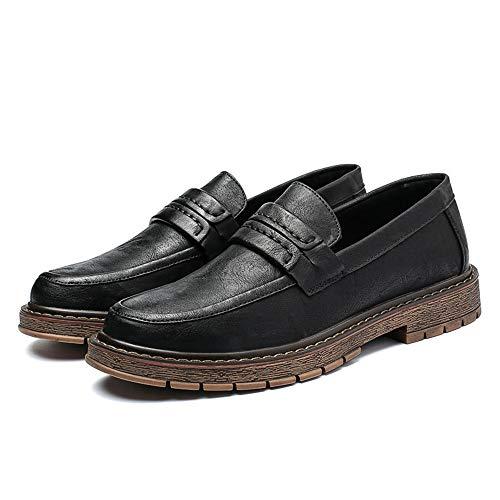 unico in 42 scarpe per shoes Jiuyue con casa Dimensione Pelle pedale da Suola Uomo Color formali classica morbida Scarpe vivere a EU Nero Marrone uomo camminare e 2018 compagnia FaOWna