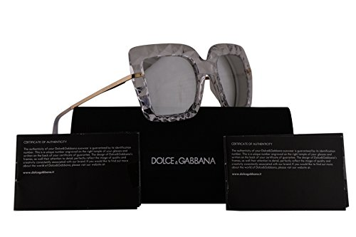 Dolce & Gabbana DG6111 Sunglasses Crystal w/Grey Mirror Lens 51mm 31336G DG - New Sunglasses Dolce Collection Gabbana And