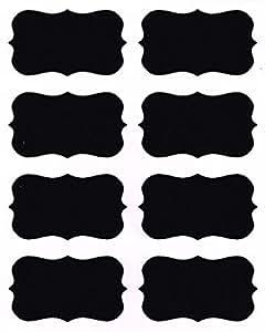Native Spring Chalkboard Labels, 40 Premium Waterproof Peel and Stick for Jars, Pantries, Craft Rooms Black