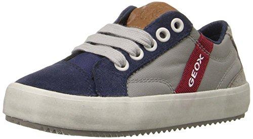 Geox J Alonisso Boy a, Zapatillas para Niños Grau (GREY/BLUEC0244)