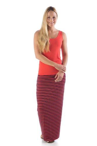 jms412-extra-small-mandarin-navy-stripe-bamboodreams-janna-maxi-skirt-foldover-waist-narrow-mandarin