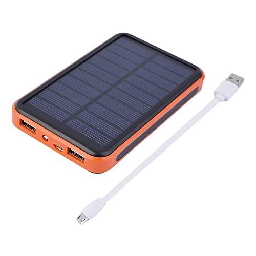 VCB 100000MAH Chargeur de Batterie de Voyage de Banque de Grande capacité avec Alimentation Solaire Externe - Noir et Orange