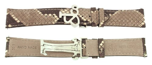 jacob-co-genuine-real-python-brown-short-band-strap-20smm-for-40mm-watch