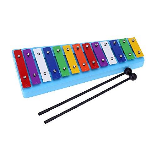 Andoer® 13 BarKinder Glockenspiel Xylophon Bunter Note des Pädagogisches Rhythmusinstrument RhythmusSpielzeug für Baby Kleinkind Kinder