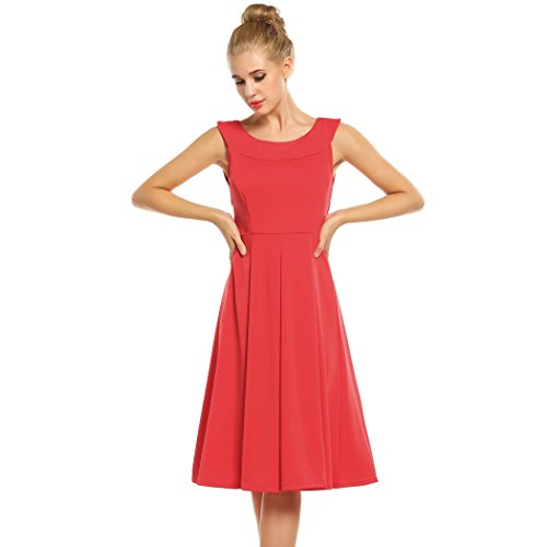 OURS Womens Sleeveless Pleated Cocktail