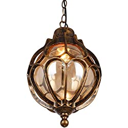 Medieval Vintage Retro Metal Pendant Light Ceiling Light Chandelier Waterproof Aluminum Bronze E27 LED