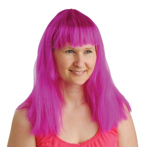 DollarItemDirect Purple NEON Costume Wig , Sold by 12 Pieces -