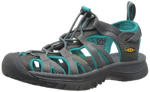 Rocky Ride Comfort System - KEEN Women's Whisper Sandal,Dark Shadow/Ceramic,7.5 M US