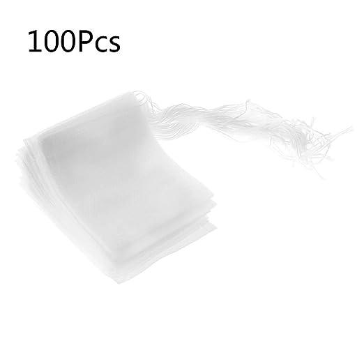 Ruda 100 Bolsas de té vacías con Filtro de Cuerda de Papel ...