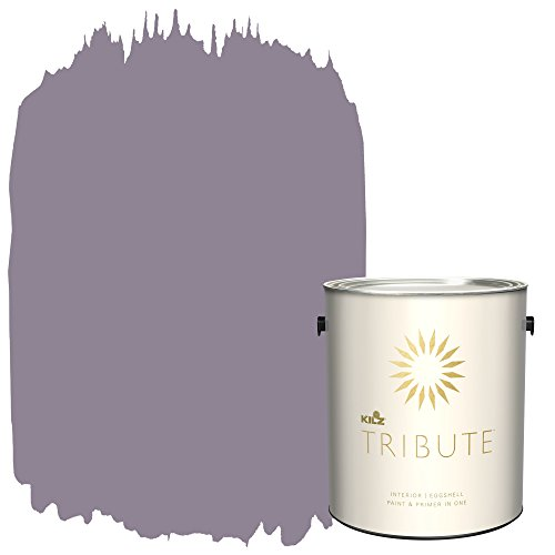 Tri Orchid (KILZ TRIBUTE Interior Eggshell Paint and Primer in One, 1 Gallon, Orchid Smoke (TB-27))