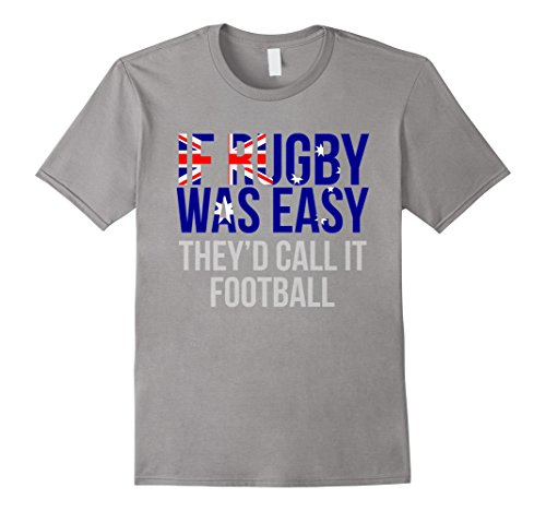 Mens Funny Australian Rugby T Shirt - Australia Rugby Shirt 2XL Slate - Australian Rugby