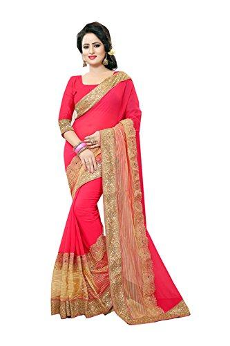 PinkCityCreations Indian Sarees For Women Wedding Designer Party Wear Traditional Gajari Sari by PinkCityCreations