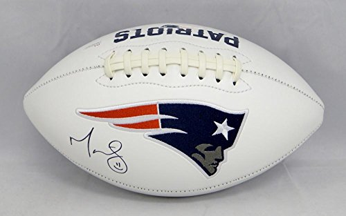 Martellus Bennett Autographed New England Patriots Logo Football  Jsa W Auth