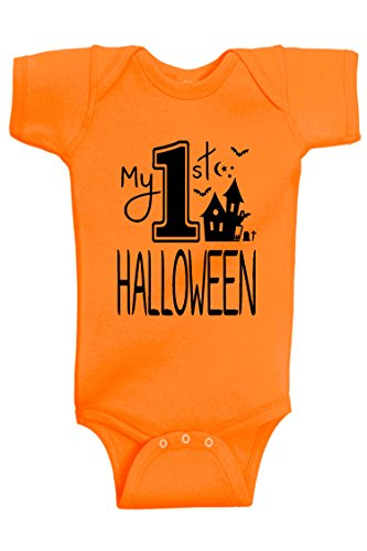Aiden's Corner - Halloween Baby Boy & Baby Girl Clothes - My First Halloween Costume (0-3 Months, First_Orange) - Quick Easy Costumes For Boys