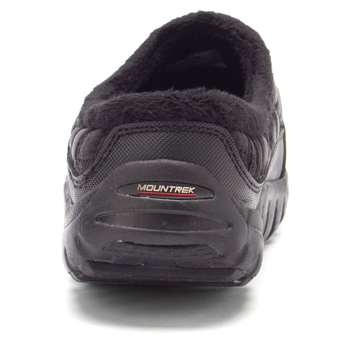 Faux Quilted Mountrek Black Womens Clog Lisa Fur Lining pcvAP81