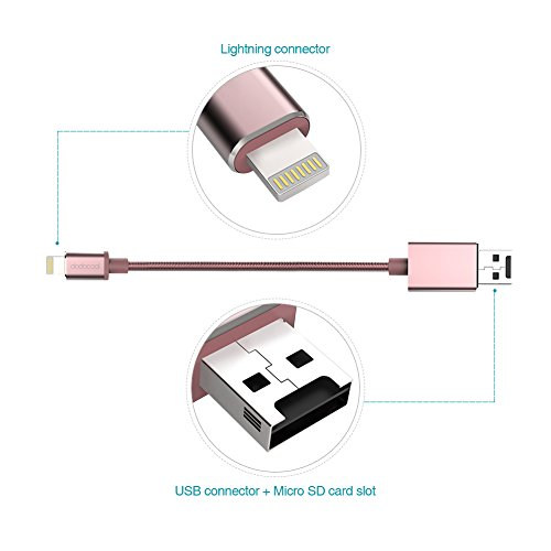 best sneakers 0a672 2acb8 dodocool Card Reader Lightning Cable with Micro SD Card Slot for ...