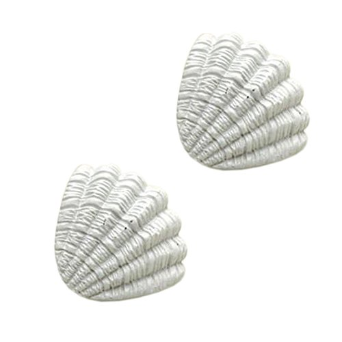 Kylin Express Ocean Style Drawer Pull Handles Cabinet Knobs Set of 2, White Shell