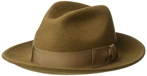 Country Gentleman Men s 100% Wool Frederick Wide Brim Fedora Hat at Amazon  Men s Clothing store  77faecf6e1a