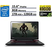 Lenovo IdeaPad 15 Y700 Gaming Laptop 15.6 IPS Full HD (1920x1080), Intel Quad-Core i5-6300HQ, NVIDIA GTX 960M 4GB GDDR5, 128GB SSD + 1TB HDD, 8GB DDR4, Windows 10 (Certified Refurbished)