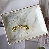 Marble Ceramic Jewelry Tray Ring Dish Ring Holder