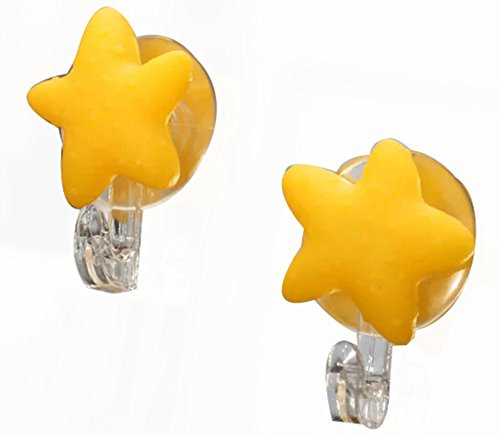 Set of 4 Cute Cartoon Sucker Hook Starfish Hook Yellow
