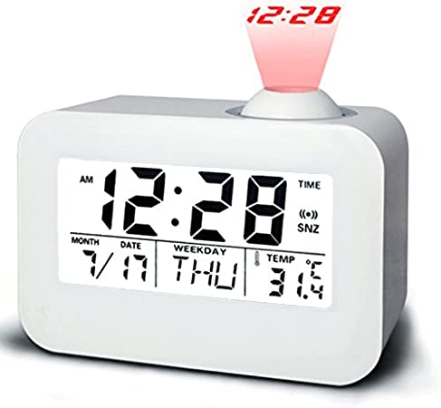 Despertador Digital Proyector, CompraFun Despertador Giratorio de ...