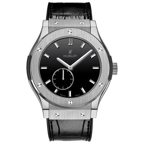 Hublot Classic Fusion Classico Men's Ultra-Thin Titanium Manual Watch - 515.NX.1270.LR