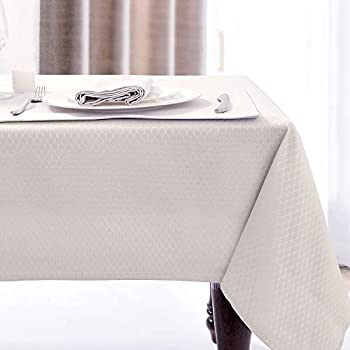 Amazon Com Jucfhy Soild Plaid Jacquard Table Cloth